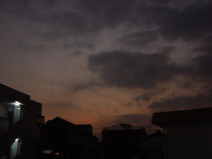 本日の夕闇
