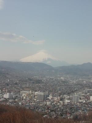 権現山展望台からみえた富士山